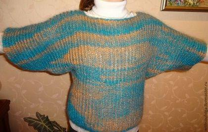 Кофты и свитера ручной работы. Ярмарка Мастеров - ручная работа Пуловер вязаный ( шерсть,мохер,меланж). Handmade.