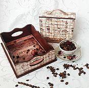 Для дома и интерьера handmade. Livemaster - original item Coffee tray and boxes for sweets. Handmade.