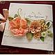 """Свадебные аксессуары ручной работы. Ярмарка Мастеров - ручная работа. Купить Книга пожеланий в коробочке """"Цветник"""" разные цвета. Handmade."""