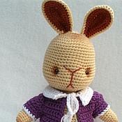 Куклы и игрушки ручной работы. Ярмарка Мастеров - ручная работа Вязаный серьезный  зайка. Handmade.