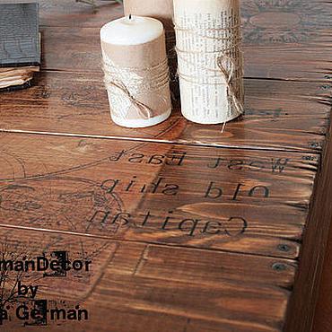 """Для дома и интерьера ручной работы. Ярмарка Мастеров - ручная работа Стол для гостиной """"Тайна затонувших кораблей"""". Handmade."""