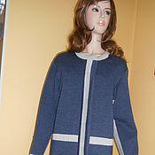 """Одежда ручной работы. Ярмарка Мастеров - ручная работа пальто """" Джинс с серебром  """". Handmade."""
