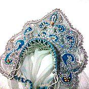 Одежда ручной работы. Ярмарка Мастеров - ручная работа Кокошник Снегурочки настоящий, волшебный. Handmade.