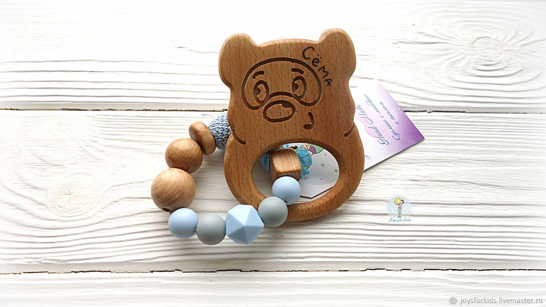 Teething toy for teeth 'Heavenly haze', Teethers rattles, Bryansk,  Фото №1