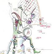 Картины и панно ручной работы. Ярмарка Мастеров - ручная работа Венецианские музыканты. Handmade.
