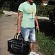 """Спортивные сумки ручной работы. Ярмарка Мастеров - ручная работа. Купить Сумка мужская """"Спорт"""". Handmade. Спорт, Кожаная сумка"""