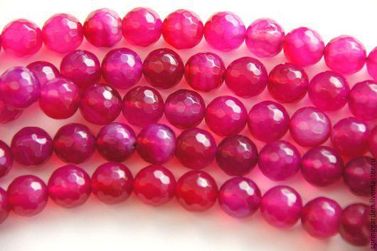 Для украшений ручной работы. Ярмарка Мастеров - ручная работа. Купить Халцедон бусины СОБЛАЗН розовый агат, граненный шар 10 мм. Handmade.
