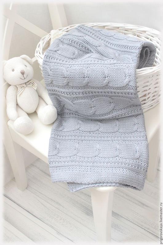 """Пледы и одеяла ручной работы. Ярмарка Мастеров - ручная работа. Купить Плед """"Теплые сказки"""" для малышей. Handmade. Однотонный, шерстяной"""