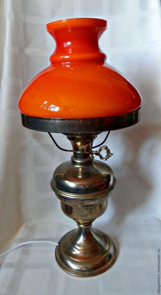 Винтажные предметы интерьера. Ярмарка Мастеров - ручная работа. Купить Лампа настольная Оранж. Handmade. Лампа, украшение для интерьера, стекло