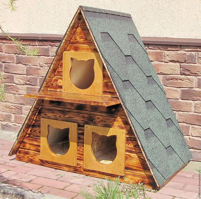 модный вариант уличный домик для кошек фото меня