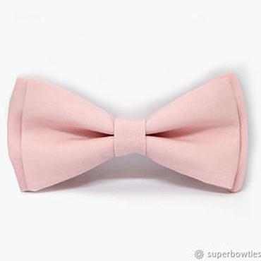 Аксессуары ручной работы. Ярмарка Мастеров - ручная работа Галстук-бабочка однотонный розовый. Handmade.