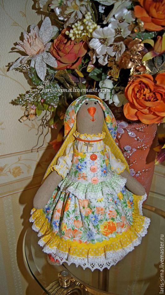 Куклы Тильды ручной работы. Ярмарка Мастеров - ручная работа. Купить Текстильная кукла тильда Зайка. Handmade. Желтый