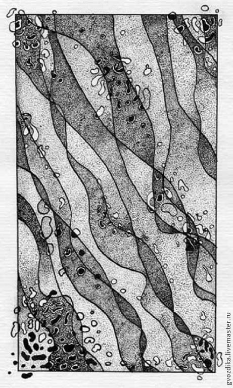 Абстракция ручной работы. Ярмарка Мастеров - ручная работа. Купить Музыка речных камешков.. Handmade. Чёрно-белый, музыка, журчание