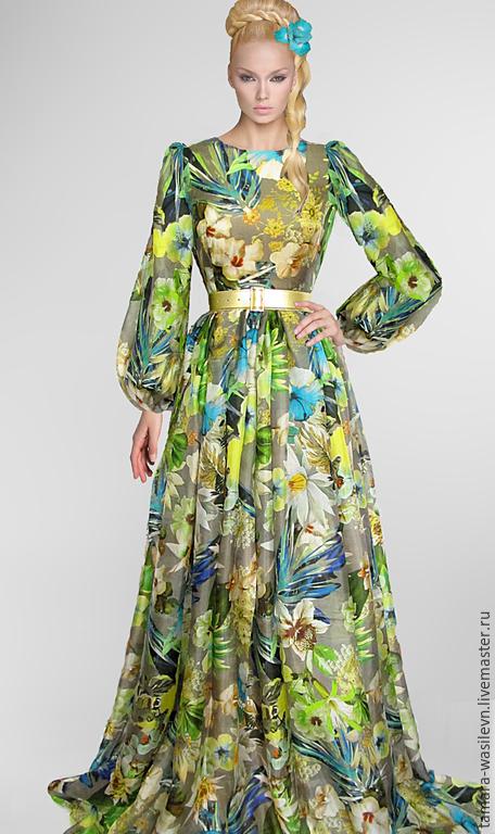 """Шитье ручной работы. Ярмарка Мастеров - ручная работа. Купить Шифон шелковый Blumarine """"Дженифер"""". Handmade. Платье, нарядное платье"""