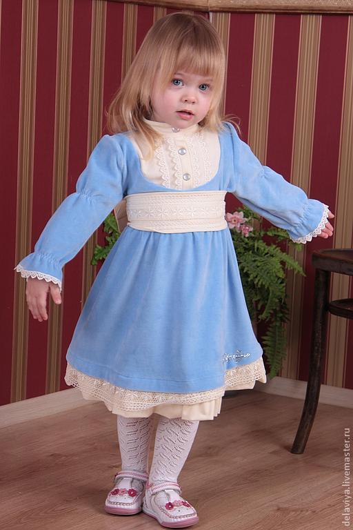 """Одежда для девочек, ручной работы. Ярмарка Мастеров - ручная работа. Купить Платье для девочки """"Инфанта"""" от Delaviya. Handmade. Голубой"""