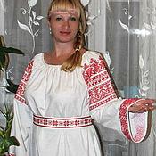 Русский стиль handmade. Livemaster - original item Russian women`s shirt!. Handmade.