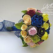 Цветы и флористика ручной работы. Ярмарка Мастеров - ручная работа Букет невесты из полимерной японской глины Deco. Handmade.