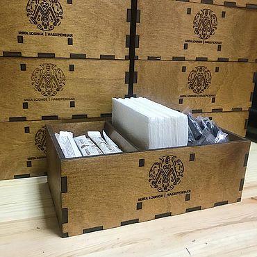 Для дома и интерьера ручной работы. Ярмарка Мастеров - ручная работа Подставка под столовые приборы, мундштуки, салфетки Мята. Handmade.