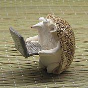 Сувениры и подарки ручной работы. Ярмарка Мастеров - ручная работа Ёж с ноутбуком. Handmade.