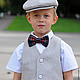 Одежда для мальчиков, ручной работы. Льняной нарядный комплект: кепка, жилетка и шорты. Nastiin. Ярмарка Мастеров. Праздничный наряд детям