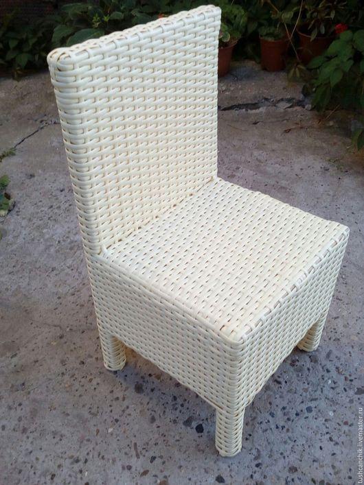 Мебель ручной работы. Ярмарка Мастеров - ручная работа. Купить Стул из искусственного ротанга. Handmade. Бежевый, Мебель, для дома и интерьера
