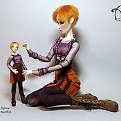 Куклы и игрушки ручной работы. Ярмарка Мастеров - ручная работа Кира (37 см). Handmade.