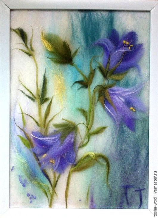 Картины цветов ручной работы. Ярмарка Мастеров - ручная работа. Купить Колокольчики мои, цветики степные.... Handmade. Комбинированный