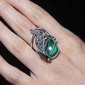 Украшения handmade. Livemaster - original item Adaya ring with malachite in 925 sterling silver HH0016-3. Handmade.