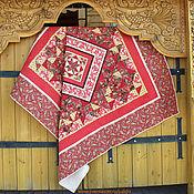"""Для дома и интерьера ручной работы. Ярмарка Мастеров - ручная работа Лоскутное одеяло """"Красная горка"""". Handmade."""