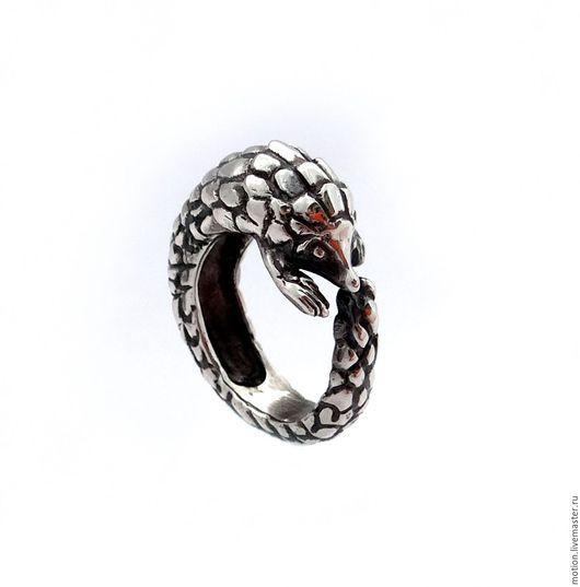 Кольца ручной работы. Ярмарка Мастеров - ручная работа. Купить Кольцо Панголин из Серебра Самое Удивительное Животное у Вас на Пальце. Handmade.