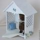 """Кукольный дом ручной работы. Заказать Миниатюра """"Беседка для мишки"""". Мастерская кукольной мебели (sssanshi). Ярмарка Мастеров. Шебби-шик"""