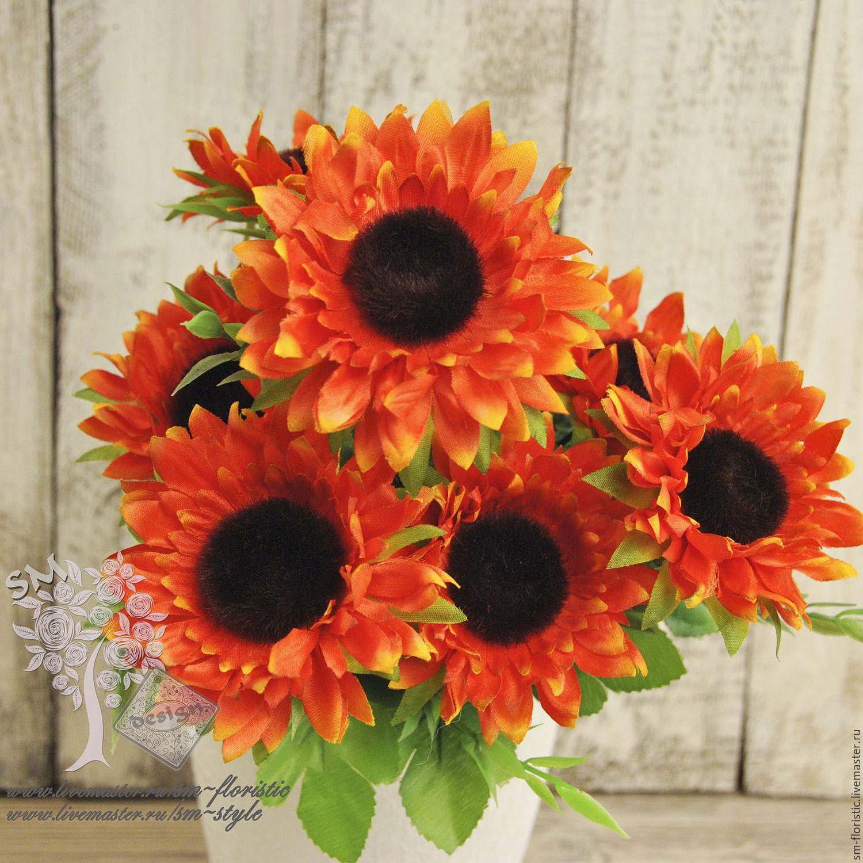 Декор цветы подсолнуха в москве купить заказ букетов в екатеринбурге с доставкой