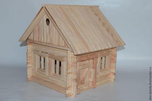 Миниатюрные модели ручной работы. Ярмарка Мастеров - ручная работа. Купить Домик Макет. Handmade. Бежевый, кукольный домик