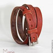 Украшения ручной работы. Ярмарка Мастеров - ручная работа Браслет кожаный. Handmade.