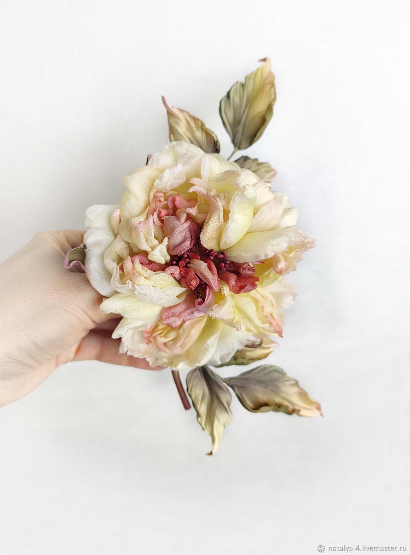 Rose silk brooch ' GALA', Brooches, Rostov-on-Don,  Фото №1