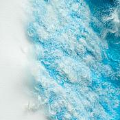 """Аксессуары ручной работы. Ярмарка Мастеров - ручная работа Комплект валяный, шапка и шарф """" Снежные облака"""". Handmade."""
