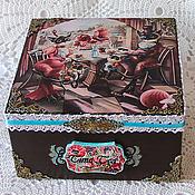 Для дома и интерьера handmade. Livemaster - original item Box of tea bags