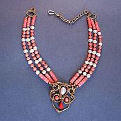 """Украшения ручной работы. Ярмарка Мастеров - ручная работа ожерелье """"Актау"""" коралл, жемчуг. Handmade."""