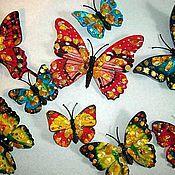 Сувениры и подарки handmade. Livemaster - original item butterflies fluttering with amber magnet, souvenir, gift 6 pcs party.. Handmade.