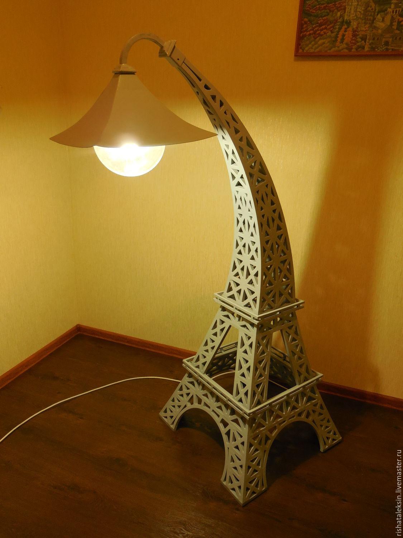 Освещение ручной работы. Ярмарка Мастеров - ручная работа. Купить Эйфелева башня. Handmade. Белый, Париж, металл