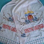 Русский стиль ручной работы. Ярмарка Мастеров - ручная работа Рушник Пасхальный, вышивка. Handmade.