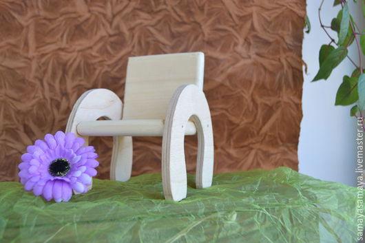 Куклы и игрушки ручной работы. Ярмарка Мастеров - ручная работа. Купить Заготовка деревянная кресло для куклы. Handmade. Бежевый, для фотосессий