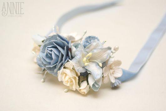 Свадебные аксессуары ручной работы. Ярмарка Мастеров - ручная работа. Купить Браслеты для невесты и подружек голубые. Handmade. Браслет, клей