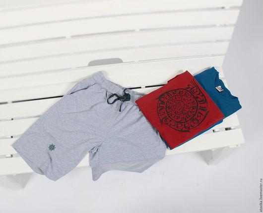 Спортивная одежда ручной работы. Ярмарка Мастеров - ручная работа. Купить Шорты мужские. Handmade. Серый, однотонный, мужская одежда