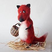 Куклы и игрушки ручной работы. Ярмарка Мастеров - ручная работа Игрушка из шерсти Лиса-воровка. Handmade.
