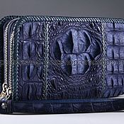 Сумки и аксессуары handmade. Livemaster - original item Clutch bag in crocodile leather with two zippers IMA0692C1. Handmade.