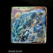 Материалы для творчества handmade. Livemaster - original item Porcelain plate with crystal glaze. Handmade.