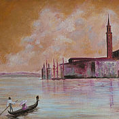 Картины и панно handmade. Livemaster - original item Dreams of Venice: the Church of San Giorgio Maggiore. Handmade.