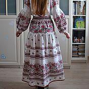 Одежда handmade. Livemaster - original item Long linen summer skirt boho sorceress. Handmade.