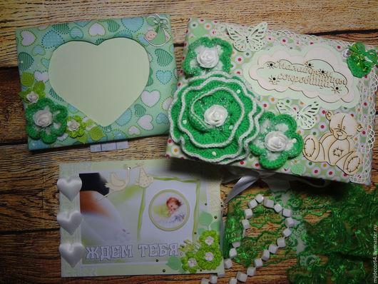 Подарочные наборы ручной работы. Ярмарка Мастеров - ручная работа. Купить Подарочный набор нейтрального зеленого цвета.. Handmade.